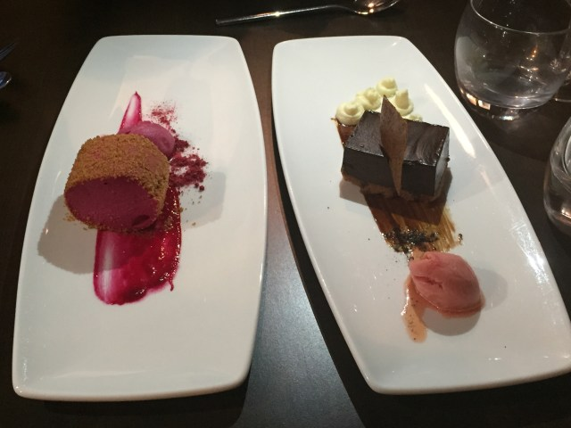 Desserts at the Wine House, Lichfield