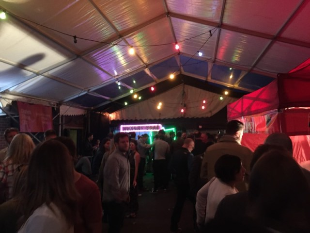 The festival atmosphere at Digbeth Dining Club