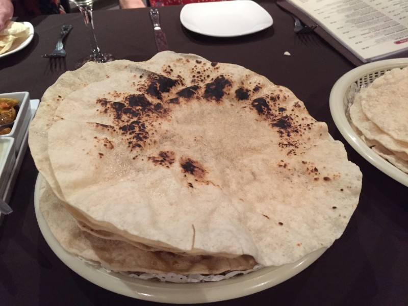 Benghi Poppadoms at the Shimla Palace, Wolseley Bridge