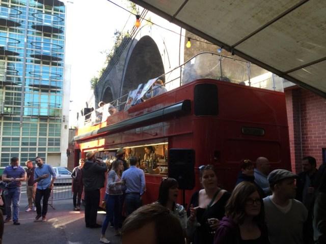 The Bar bus at Burgergeddon, Digbeth, Birmingham