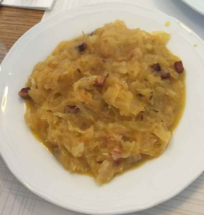 Polish fried cabbage in Krakow, Poland