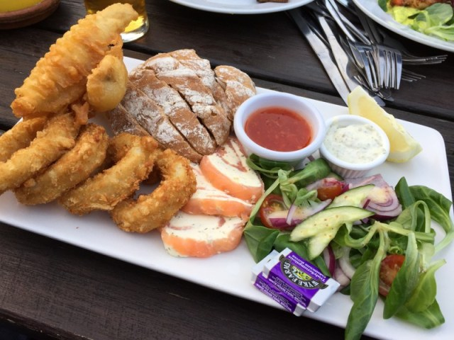The Polgooth Fisherman's Platter at the Polgooth Inn, Pentewan Valley, Cornwall