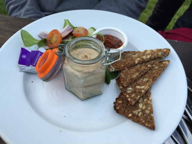 Smoked mackerel, brandy and dill pate at the Polgooth Inn, Pentewan Valley, Cornwall