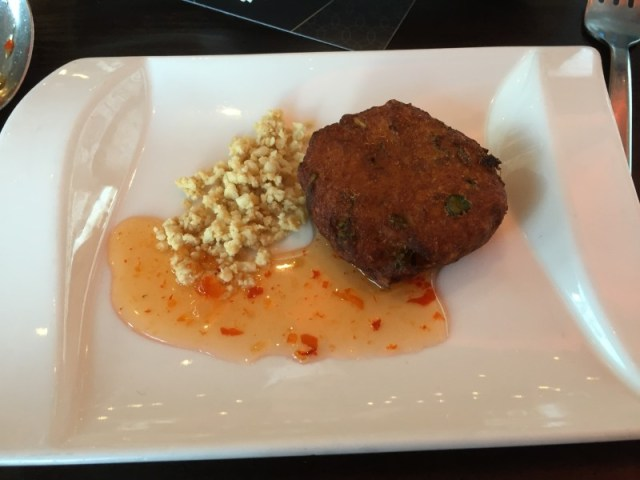 Thai fishcakes - the product of a cooking class at Chaophraya, Birmingham
