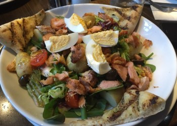 Salmon Nicoise salad at Prezzo
