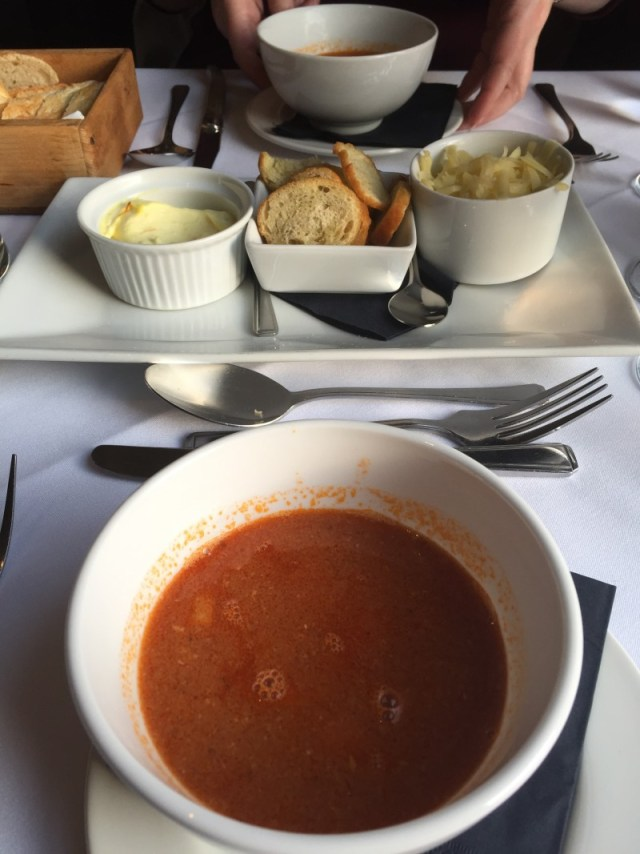 Provencal fish soup at Oscars, Leamington Spa