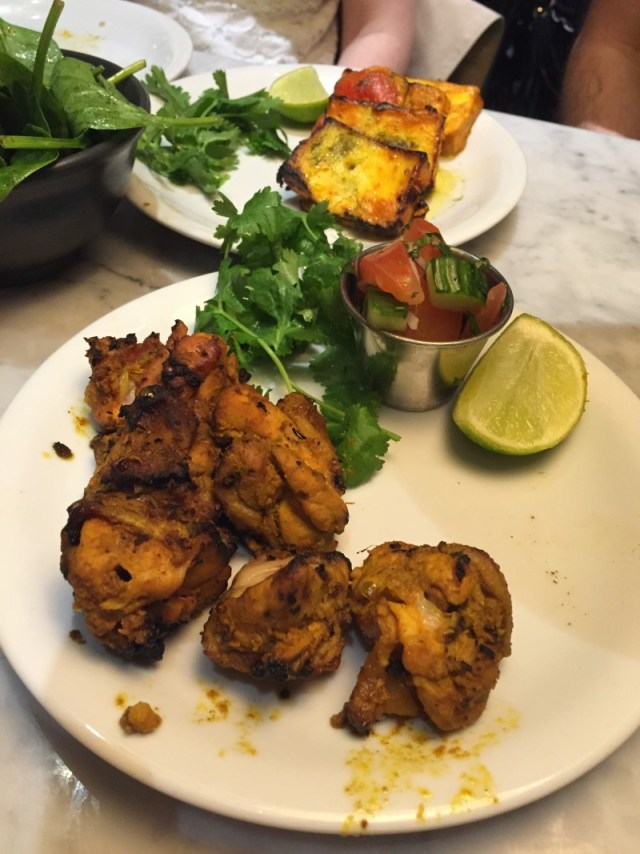 Chicken tikka and paneer tikka at Dishoom, King's Cross, London