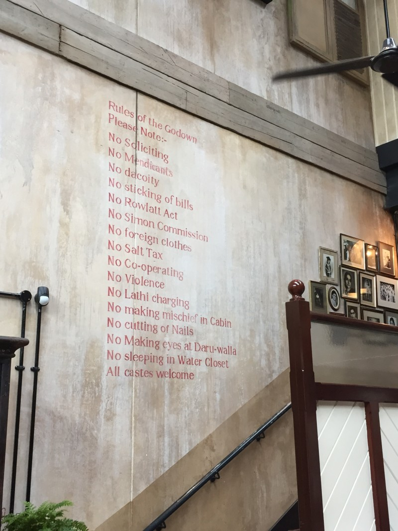 The 'rules' at Dishoom, King's Cross, London