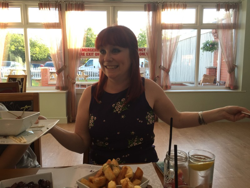 Fellow food blogger Gingey Bites at the Fuzzy Duck, Nuneaton