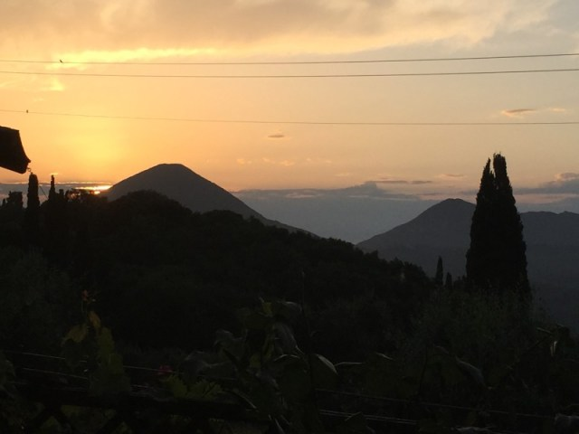 Sunset view from Archontiko, Corfu