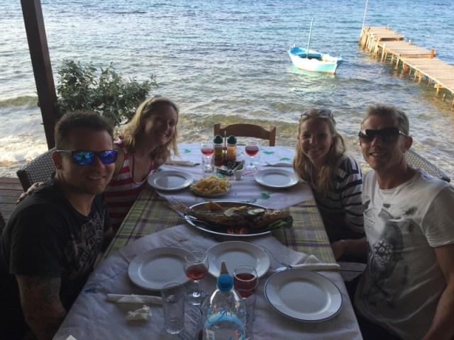A lovely dinner at Boukari Beach, Corfu