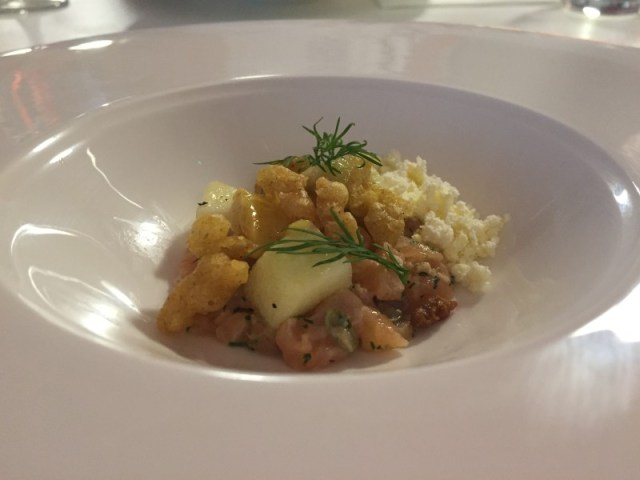 Salmon tartare at En Place pop-up