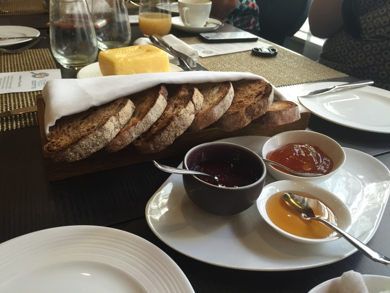 Sourdough toast, Lincolnshire Poacher butter and preserves
