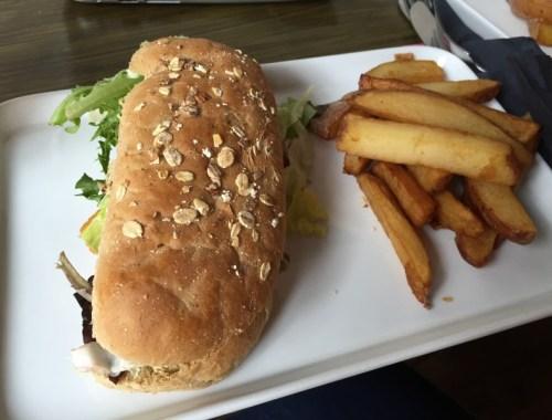 Fish finger sandwich at The Spark, Lichfield