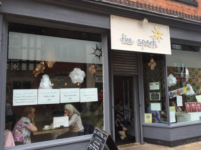 The unassuming exterior of The Spark, Lichfield