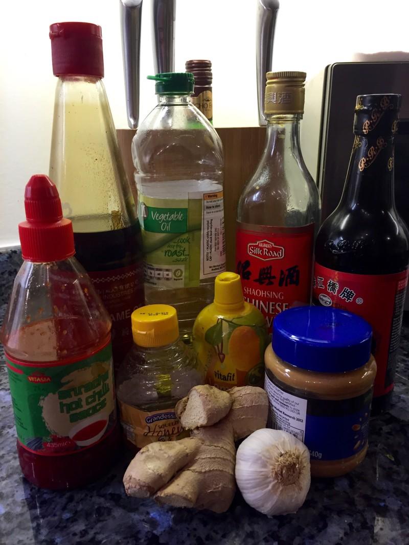 Asian Kale slaw ingredients