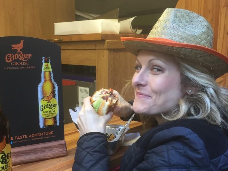 Ellen eating a burger