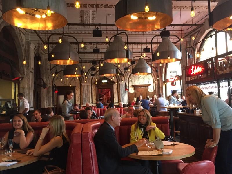 The interior at Nosh & Quaff, Birmingham