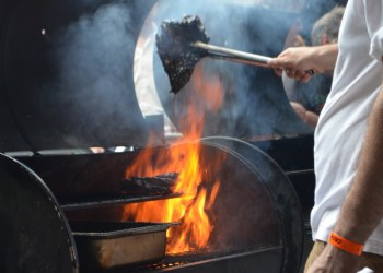 Fire at Meatopia 2015