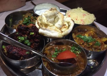 The meat thali at Omar's, Dunchurch