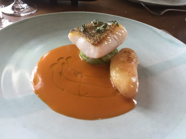 Cod main course at Restaurant Nathan Outlaw