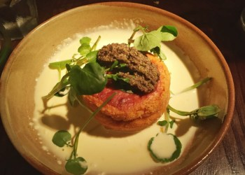 Tomato souffle at the Stag and Offchurch