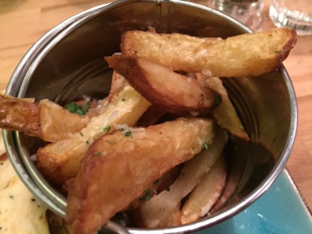 Parmesan and truffle fries at Meating, Birmingham