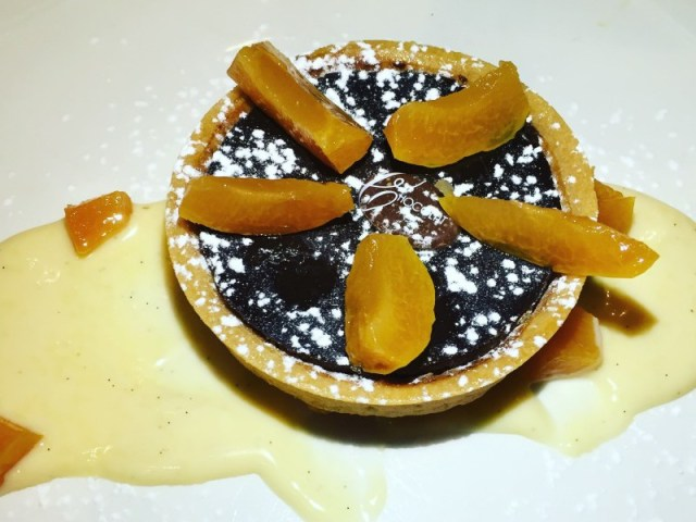 Chocolate tart at La Margherita, Rugby