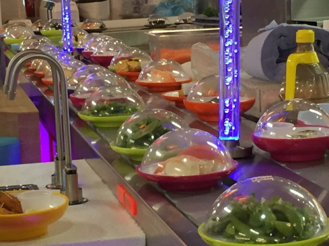 DIshes at Yo Sushi