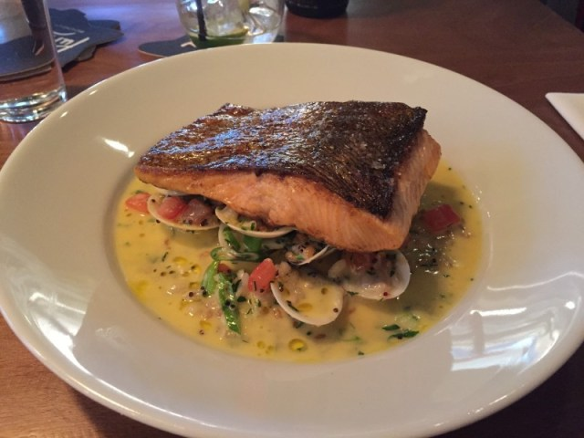 Sea trout main course at Purecraft
