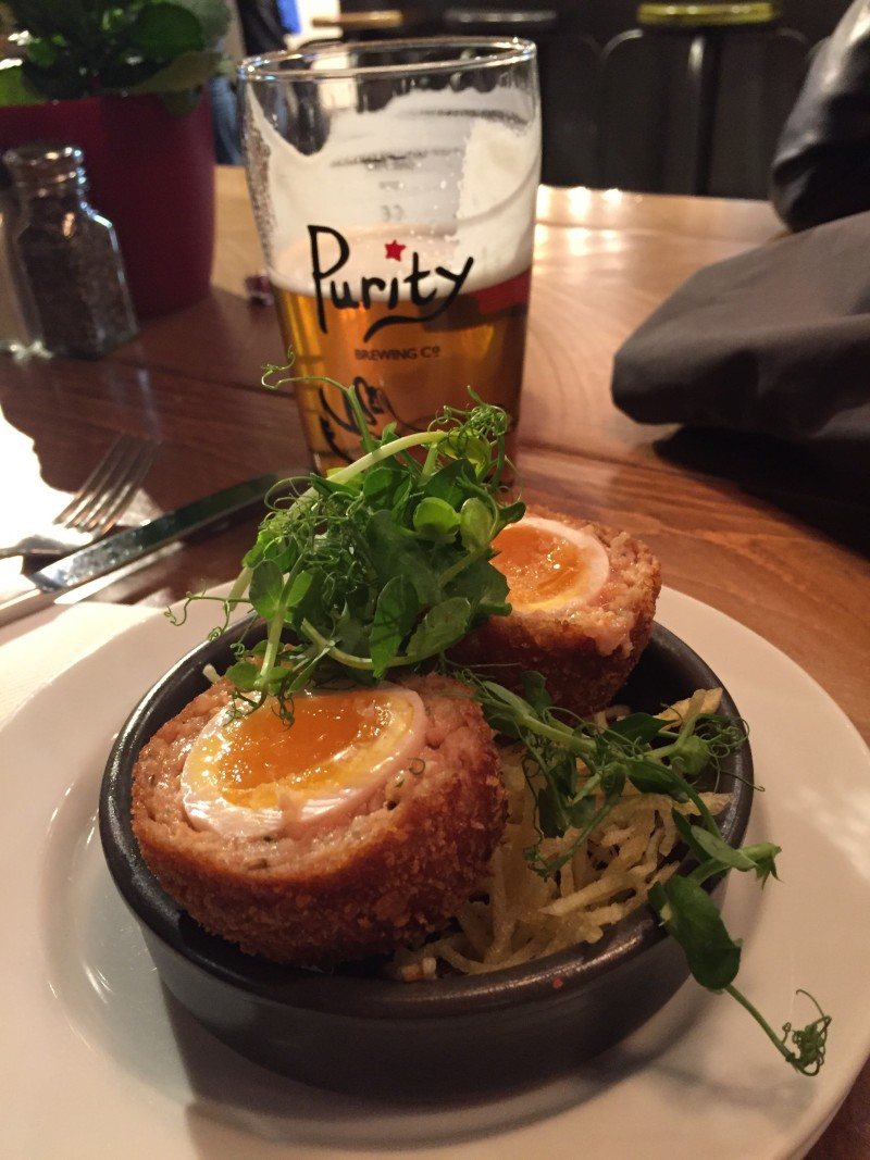 Scotch egg at Purecraft Bar and Kitchen