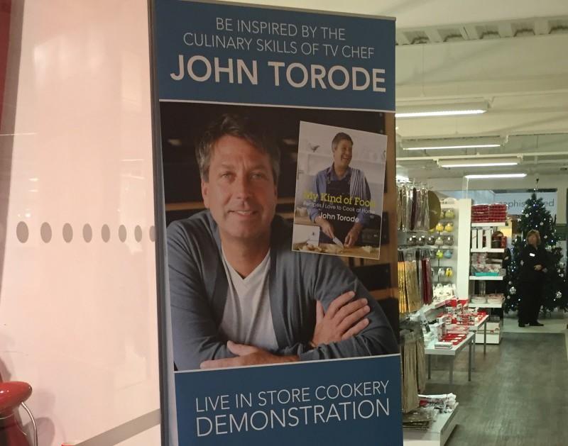 John Torode at Leekes