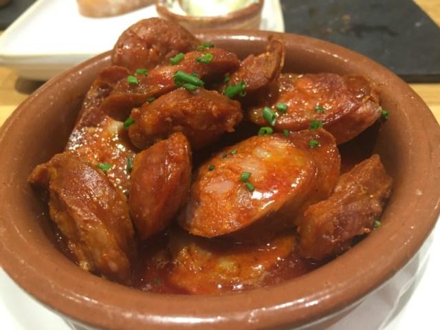 Chorizo at Tapas Revolution