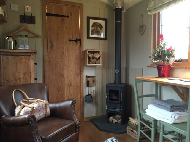 Interior of a shepherds hut