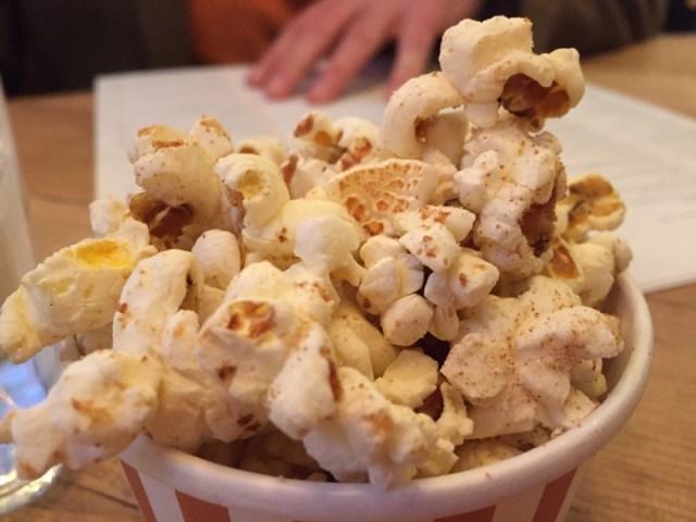 Beef dripping popcorn at Bar + Block
