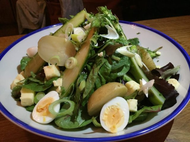 Asparagus & Jersey Royal Salad at The Perch, Oxford