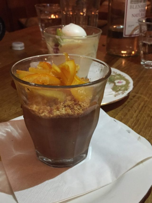 Dark chocolate mousse at The Perch, Oxford