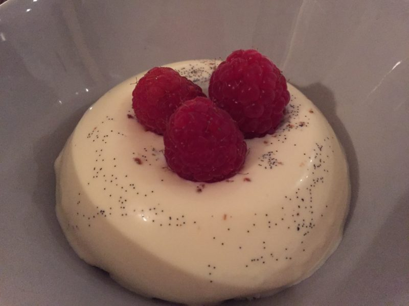 Vanilla and cointreau pannacotta