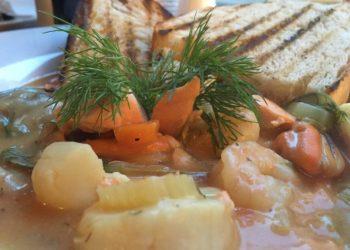 Bouillabaisse at Cafe Vin Cinq, Rugby