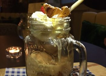 Salted caramel sundae at Queens Road Restaurant, Coventry