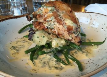 Stuffed chicken at The Ragged Cot, Minchinhampton