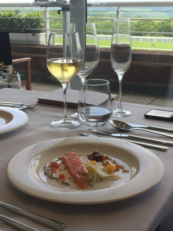 Salmon starter at Goodwood
