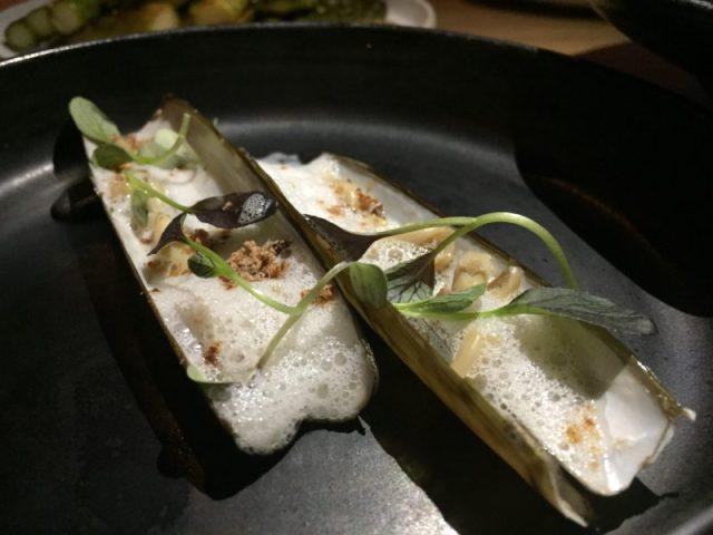 Razor clams at Rofuto, Birmingham
