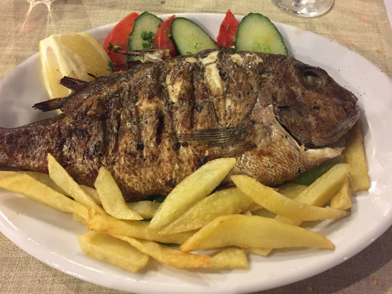 Grilled fish in Kefalonia