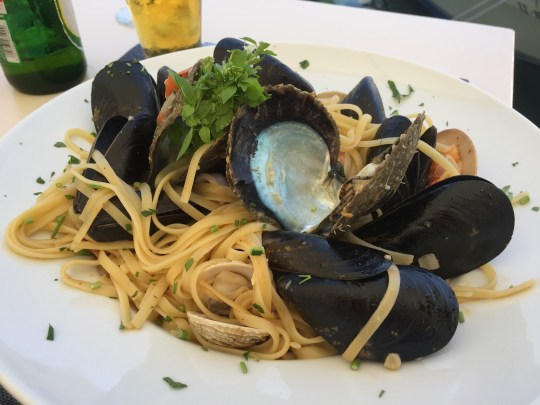 Seafood pasta at Ellis, Fiskardo