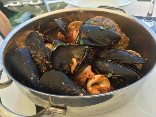 Seafood saganaki at Ellis, Fiskardo