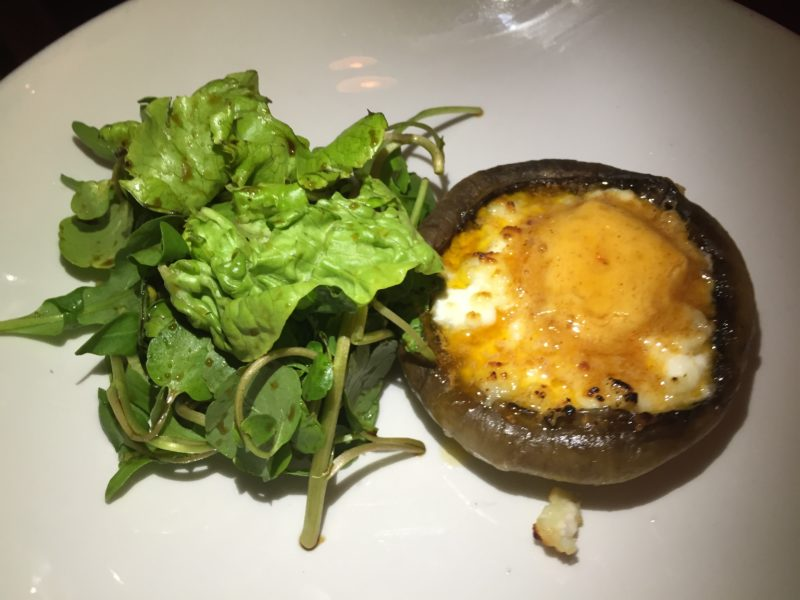 Stuffed mushroom starter at The Almanack, Kenilworth