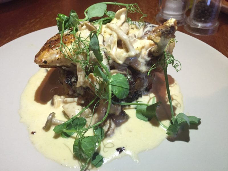 Pan-roasted chicken at the White Horse, Balsall Common
