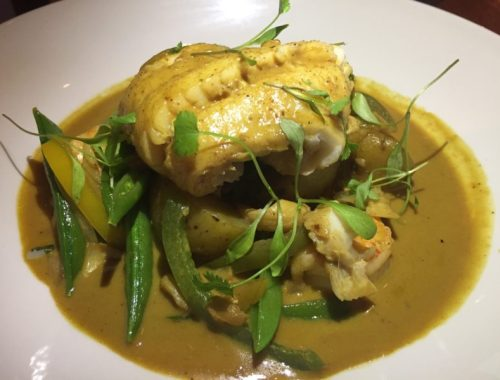 Goan spiced fish at the White Horse, Balsall Common