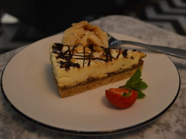 Cheesecake at Pizza Express